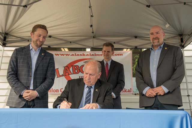 alaska journal  bill to pay tax credits signed but